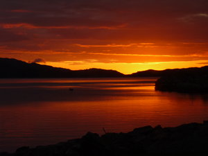 Workshops and Scottish Retreats. dark sunset